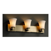 Justice Design Limoges Modular 3-Light Bath Bar in Antique Brass POR-8923-20-WFAL-ABRS