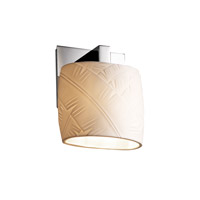 Justice Design POR-8931-30-BANL-CROM Limoges 1 Light 7 inch Polished Chrome ADA Wall Sconce Wall Light in Banana Leaf photo thumbnail