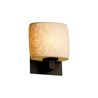 Justice Design Limoges Modular 1-Light Wall Sconce (Ada) in Dark Bronze POR-8931-30-LEAF-DBRZ