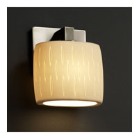 Justice Design Limoges Modular 1-Light Wall Sconce (Ada) in Brushed Nickel POR-8931-30-OVAL-NCKL