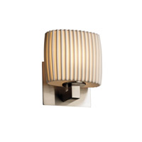 Limoges 1 Light 7 inch Brushed Nickel ADA Wall Sconce Wall Light in Pleats