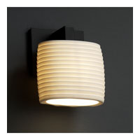 Justice Design Limoges Modular 1-Light Wall Sconce (Ada) in Matte Black POR-8931-30-SAWT-MBLK
