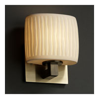 Justice Design Limoges Modular 1-Light Wall Sconce (Ada) in Antique Brass POR-8931-30-WFAL-ABRS photo thumbnail