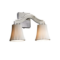 Justice Design Limoges Bend 2-Light Wall Sconce (Style 2) in Brushed Nickel POR-8975-20-PLET-NCKL