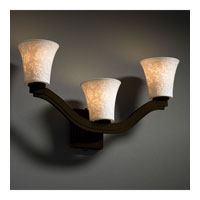 Justice Design Limoges Bend 3-Light Wall Sconce (Style 2) in Dark Bronze POR-8976-20-LEAF-DBRZ