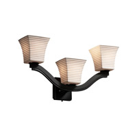 Justice Design Limoges Bend 3-Light Wall Sconce (Style 2) in Matte Black POR-8976-40-SAWT-MBLK