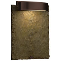 Justice Design SLT-7531W-ERTH-DBRZ Slate 12 inch Outdoor Wall Sconce in Dark Bronze, Earth thumb