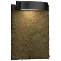 Justice Design SLT-7531W-ERTH-MBLK Slate 12 inch Outdoor Wall Sconce in Matte Black, Earth thumb
