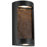 Justice Design SLT-7535W-ERTH-MBLK Slate LED 8 inch Matte Black ADA Wall Sconce Wall Light in Earth
