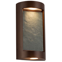 Justice Design SLT-7535W-NTRL-DBRZ Slate LED 8 inch Dark Bronze ADA Wall Sconce Wall Light in Natural