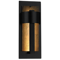 Justice Design SLT-7642W-ERTH-MBLK Slate Litho LED 15 inch Matte Black Outdoor Wall Sconce