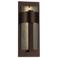 Justice Design SLT-7642W-NTRL-DBRZ Slate Litho LED 15 inch Dark Bronze Outdoor Wall Sconce