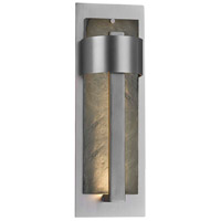 Justice Design SLT-7644W-NTRL-NCKL Slate Litho LED 18 inch Brushed Nickel Outdoor Wall Sconce
