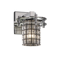 Circa 1 Light 7 inch Polished Chrome Wall Sconce Wall Light in Grid with Clear Bubbles