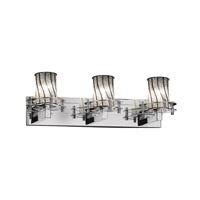 Justice Design Circa 3 Light Bath Light in Polished Chrome WGL-8273-10-GRCB-CROM