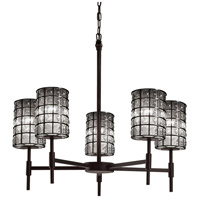 Justice Design Group Wire Glass LED Chandelier in Matte Black WGL-8410-10-GRCB-MBLK-LED5-3500