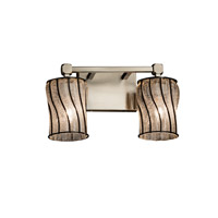 Justice Design Group Wire Glass 2 Light Vanity Light in Brushed Nickel WGL-8422-10-SWCB-NCKL