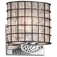 Justice Design WGL-8497-30-GRCB-CROM Wire Glass Malleo 1 Light 7 inch Polished Chrome ADA Wall Sconce Wall Light
