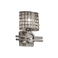 Argyle 1 Light 9 inch Brushed Nickel ADA Wall Sconce Wall Light in Grid with Clear Bubbles