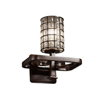 Justice Design Wire Glass Arcadia 1-Light Wall Sconce in Dark Bronze WGL-8561-10-GRCB-DBRZ