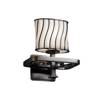 Justice Design Wire Glass Arcadia 1-Light Wall Sconce in Matte Black WGL-8561-30-SWOP-MBLK photo thumbnail