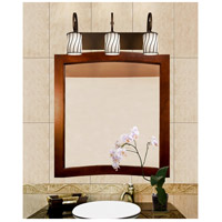 Justice Design WGL-8573-10-SWOP-DBRZ Wire Glass 3 Light 25 inch Dark Bronze Bath Bar Wall Light in Swirl with Opal Cylinder with Flat Rim