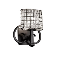 Justice Design Wire Glass Heritage 1-Light Wall Sconce in Matte Black WGL-8581-30-GRCB-MBLK