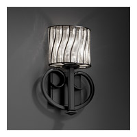 Justice Design WGL-8587-30-SWCB-MBLK Heritage 1 Light 9 inch Matte Black ADA Wall Sconce Wall Light in Swirl with Clear Bubbles alternative photo thumbnail