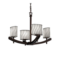 Justice Design Archway 4 Light Chandelier in Dark Bronze WGL-8590-30-SWOP-DBRZ
