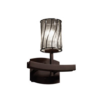 Justice Design Wire Glass Archway 1-Light Wall Sconce in Dark Bronze WGL-8591-10-SWCB-DBRZ