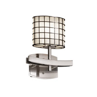 Justice Design Archway 1 Light Wall Sconce in Brushed Nickel WGL-8597-30-GROP-NCKL