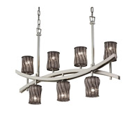 Justice Design Archway 7 Light Chandelier in Brushed Nickel WGL-8598-10-SWCB-NCKL