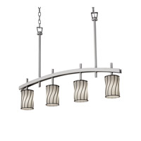 Justice Design Archway 4 Light Chandelier in Brushed Nickel WGL-8599-10-SWOP-NCKL