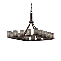 Montana 16 Light 42 inch Dark Bronze Chandelier Ceiling Light in Grid with Clear Bubbles
