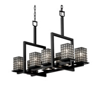 Justice Design Montana 11 Light Chandelier in Matte Black WGL-8618-15-GRCB-MBLK