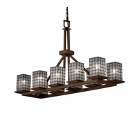 Montana 10 Light 14 inch Brushed Nickel Chandelier Ceiling Light in Grid with Clear Bubbles
