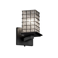 Justice Design Montana 1 Light Wall Sconce in Matte Black WGL-8661-15-GRCB-MBLK