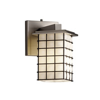 Montana 1 Light 7 inch Brushed Nickel Wall Sconce Wall Light in Grid with Opal