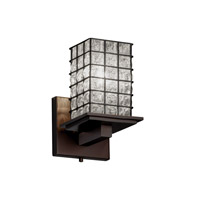 Montana 1 Light 5 inch Dark Bronze Wall Sconce Wall Light in Grid with Clear Bubbles