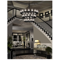 Wire Glass 36 Light 42 inch Matte Black Chandelier Ceiling Light in Swirl with Clear Bubbles