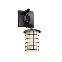 Justice Design Wire Glass Sonoma 1-Light Wall Sconce (Short) in Matte Black WGL-8781-10-GROP-MBLK