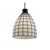 Justice Design WGL-8814-GROP-CROM-LED1-700 Wire Glass LED 11 inch Polished Chrome Pendant Ceiling Light in 700 Lm LED, Grid with Opal