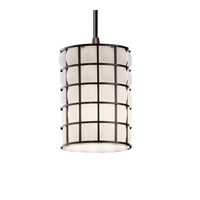 Justice Design Wire Glass Mini 1-Light Pendant in Dark Bronze WGL-8815-10-GROP-DBRZ