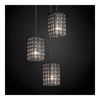Justice Design WGL-8864-15-GRCB-DBRZ Signature 3 Light 4 inch Dark Bronze Pendant Ceiling Light in Grid with Clear Bubbles WGL-8864-15-GRCB-DBRZ_2.jpg thumb