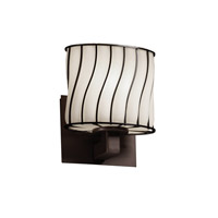Justice Design Wire Glass Modular 1-Light Wall Sconce (ADA) in Dark Bronze WGL-8931-30-SWOP-DBRZ
