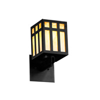 Justice Design WIN-8720-MBLK-GAMB Windows Prairie Window 1 Light 5 inch Matte Black Wall Sconce Wall Light