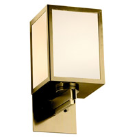 Justice Design WIN-8732-ABRS-GWFR Windows Simple Window 1 Light 6 inch Antique Brass Wall Sconce Wall Light