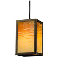 Justice Design WIN-8737-DBRZ-GAMB Windows Simple Window 1 Light 5 inch Dark Bronze Pendant Ceiling Light