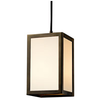 Justice Design WIN-8737-DBRZ-GWFR Windows Simple Window 1 Light 5 inch Dark Bronze Pendant Ceiling Light