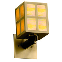 Justice Design WIN-8740-ABRS-GAMB Windows Plus Window 1 Light 5 inch Antique Brass Wall Sconce Wall Light